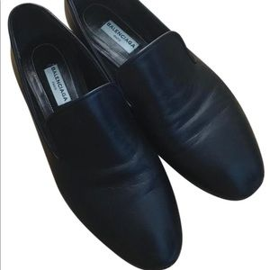 Balenciaga studded leather loafer